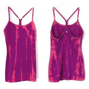 Lululemon Power Y Tank Top Custom Tie Dye Pink 6